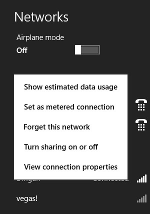 wifi metered connection